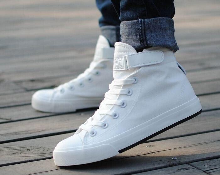 Hombres Estilo Lona Zapatos Plana Classic 2017 Bajoalto PqtWA