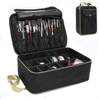 New Hot Makeup Box Travel Waterproof Women Cosmetic Bag High Quality Professional Storage Brush Beautician Organizer