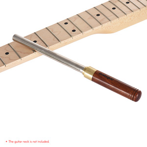 Image 5 - Guitar Fret File Guitar Fret Dressing Metal File with 3 Size Edges Wooden Handle Guitar Repair Tool Luthier Tool