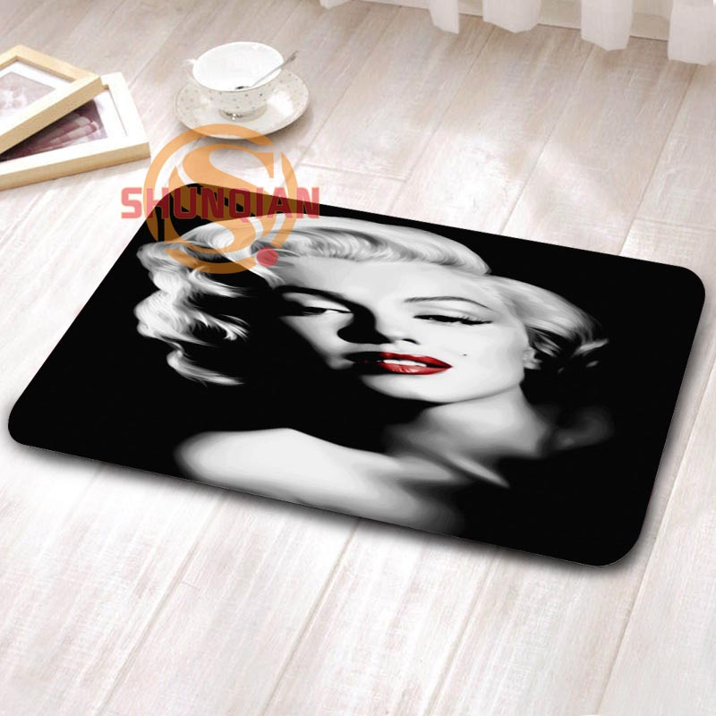 marilyn monroe Custom Doormat Print slip-resistant Mats Floor Bedroom Living Room Rugs H0402hjd88