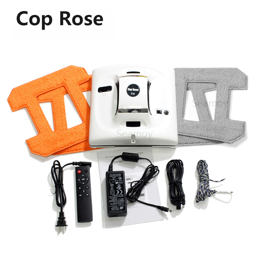 Robot de limpieza de ventana COP ROSE X6, aspiradora magnética, anticaída, Control remoto, lavado de vidrio automático, 3 modos de funcionamiento