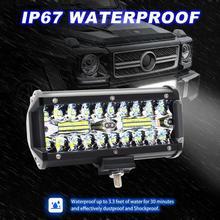 VODOOL IP67 автомобилей DIY свет бар 7 дюйма 3 ряд 120 W Off Road светодио дный свет работы бар Водонепроницаемый пятна дальнего автомобильные аксессуары лампа
