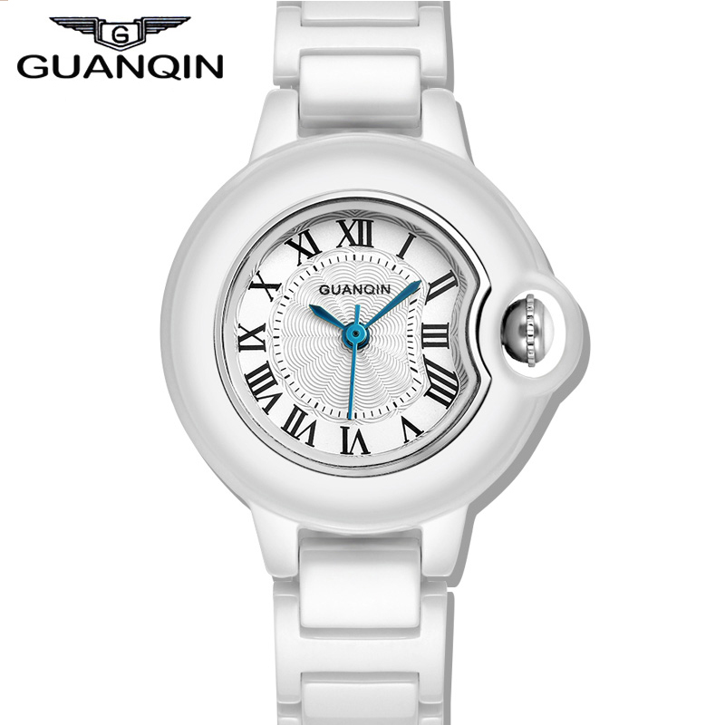 2015 New fashion Ceramic Watches women Brand GUANQIN Casual Waterproof Watch Ladies Dress Watches