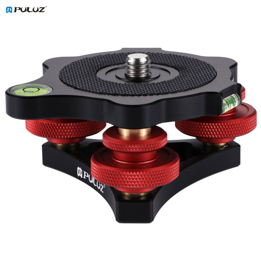 все цены на PULUZ PU3517 Aluminum Alloy Adjustment Locking Rings Dials EZ Leveling Base Ball Head for DSLR Camera Tripod Head онлайн