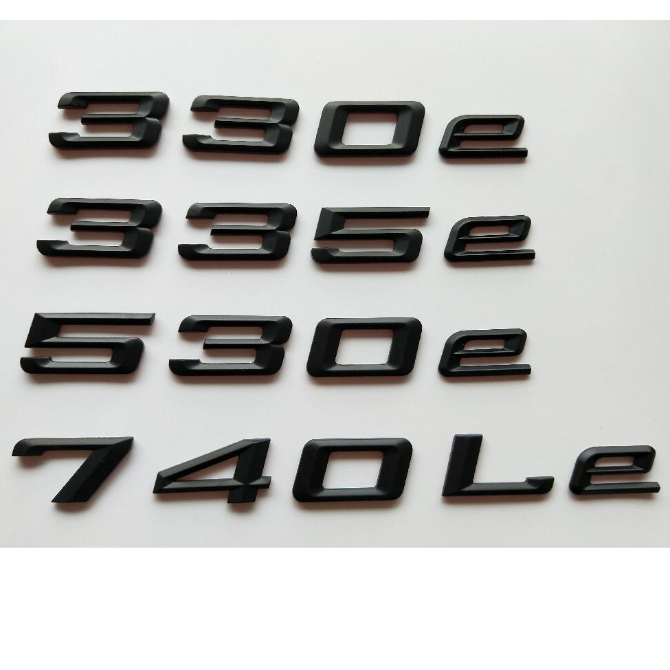 preto fosco letras tampa do tronco emblemas emblemas emblema emblema autocolante para bmw 325e 330e 335e