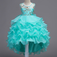 2-15 T Kind Abendkleider für Mädchen Party Prinzessin Dress up Kinder Kuchen Tutu Kleid Pailletten Mädchen Sommerkleid alter 7 8 11 12