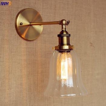 IWHD Glas Vintage Wandlamp Armaturen Armatuur Rustieke Loft Industriële Wandlamp LED Edison Blaker Lampe Apliques Pared