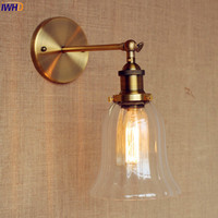 IWHD Glass Vintage Wall Light Fixtures Luminaire Rustic Loft Industrial Wall Lamp LED Edison Sconce Lampe Apliques Pared|apliques pared|wall light fixturevintage wall light -