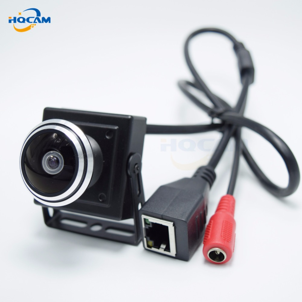 HQCAM Full HD 1080P 180 Degree mini IP Camera monitor ip camera mini P2P Plug Play Wide Angle camera for 1.78mm Fisheye Lens