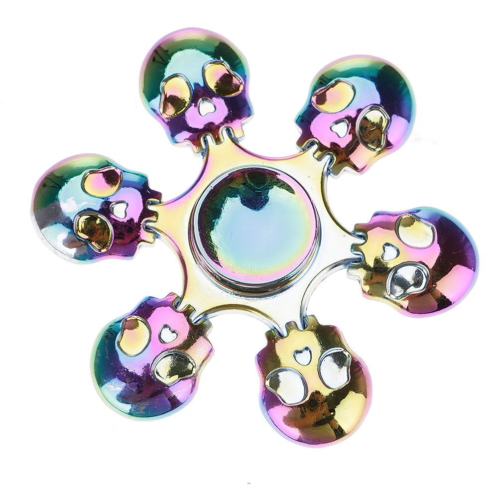 Rainbow Six Skulls Fidget Hand Finger Spinner EDC Focus Toy Speed Bearing New