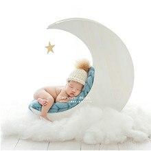 Studio Props Photography Moon Cot for Photo Shoot Newborn Accessories Flokati Posing Sofa Solid Wood Basket