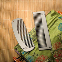 Pure Titamium Comb Handmade Premium Eco friendly Durable Health Care Comb Hairbrush Hair Trimmer Pocket Mini Wedding Gift UN970