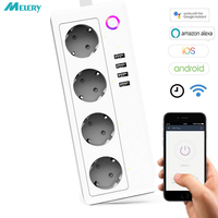 Wifi Smart Power Strip Adapter Surge Protector 4 Outlets EU Plug Sockets with USB Homekit Work With Amazon Alexa Google Home