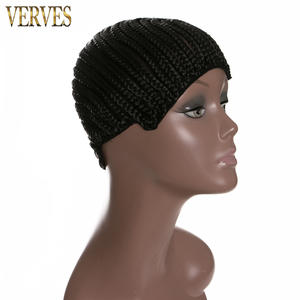 Wig-Caps Cornrow Hairnets Making-Wigs Synthetic Women VERVES for with Adjustable Strap