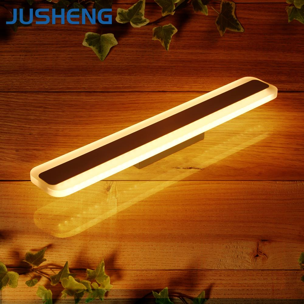 New Square LED Bathroom Wall Lights Indoor Acylic Bar Sconce Lights 60cm / 70cm long AC 100-240V