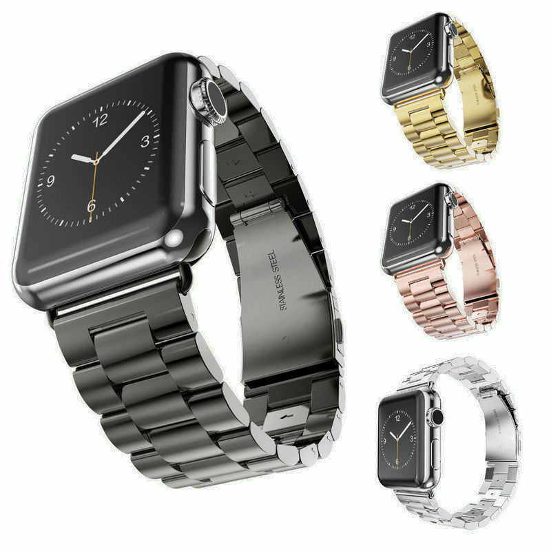 Prix pour Nouvelle qualité en acier inoxydable bracelet bande pour Apple montre Band Sport Edition argent noir or bracelet 38 mm 42 mm pour iWatch bande