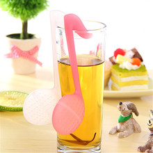 2Pcs/Set Portable Infuser Strainer Musical symbol Shaped Tea Maker Filter Afternoon Innovation Artifacts L133