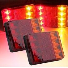 YAIT 1 пара Водонепроницаемый 8 светодиодов задние фонари прицепа грузовик Стоп задний свет авто сигнальная лампа предупредительные огни противотуманных фар лампы