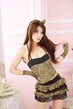 Lencería señora del gato Cosplay ropa interior de mujer sexy erotica gato leopardo porno catsuit disfraces sexy látex disfraz siervo mujeres