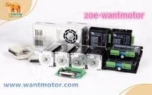 Hot sale!EU free!CNC Wantai 4 Axis Nema 23 Stepper Motor WT57STH115-4204A 4.2A 425oz-in&Driver DQ542MA 50V 4.2A 128Micro цена в Москве и Питере