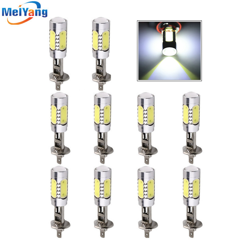 10pcs H1 LED High Power 7.5W Pure White Fog Head Tail Driving Car LED Bulbs Lamp Auto Car Light Source parking 12V 6000K 1pcs h1 led good 80w white car fog lights daytime running bulb auto lamp vehicles h1 led high power parking car light source
