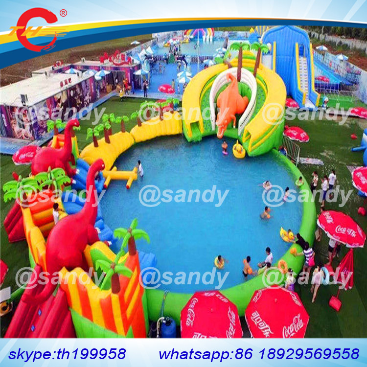 Free Sea Ship To Port 18x16x5mh Swimming Pool Games Commercial Mobile Dinosaur Kids And Adult