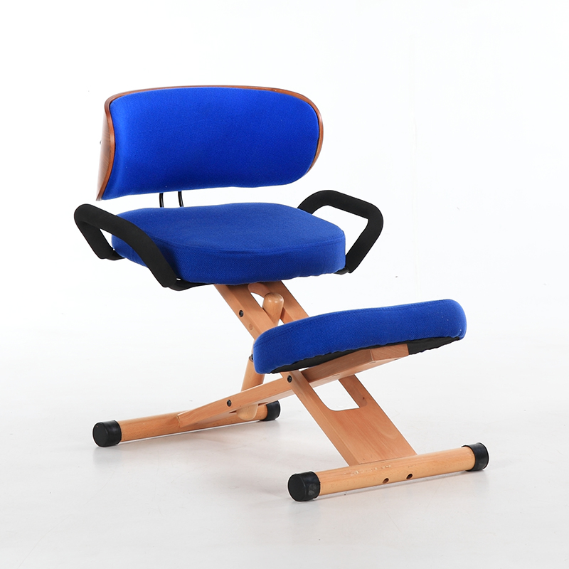 Купить с кэшбэком Height Adjustable Ergonomic Kneeling Chair with Back and Handle Wood Office Furniture Kneeling Posture Work Chair Knee Stool