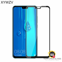 2PCS Full Glue Cover Glass Huawei Y9 2019 Tempered Screen Protector For Phone Film