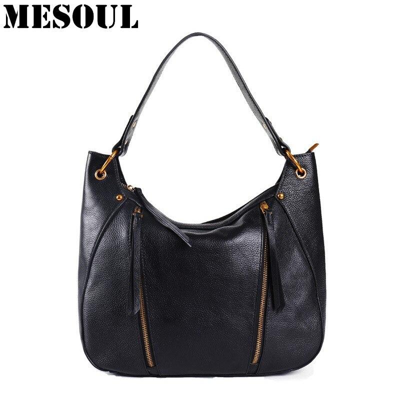 2017 New Casual Soft Genuine Leather Women s Handbag Female Shoulder Tote Messenger Bags Designer Large