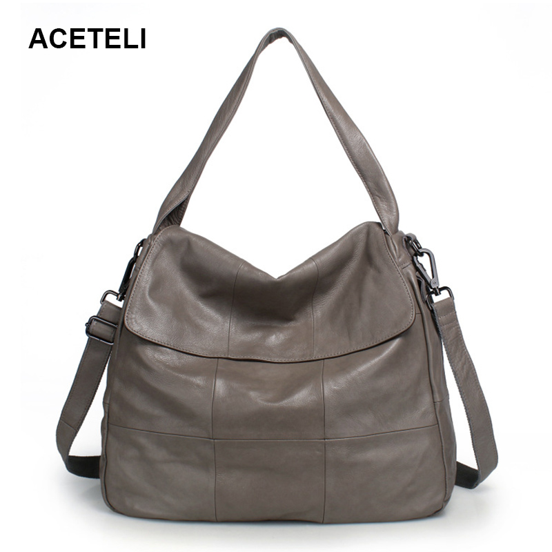 ACETELI brand women handbag brand women handbag genuine leather tote bag female shoulder bags ladies handbags mess women bag 2015 genuine pu leather bags ladies handbags brand women leather handbags women shoulder bag tote bag b30