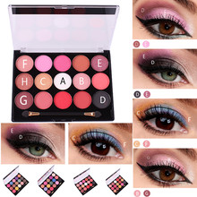 15 Colors Pearlescent Matte Eye Shadow Makeup Multicolored Eyeshadow Plate Profe