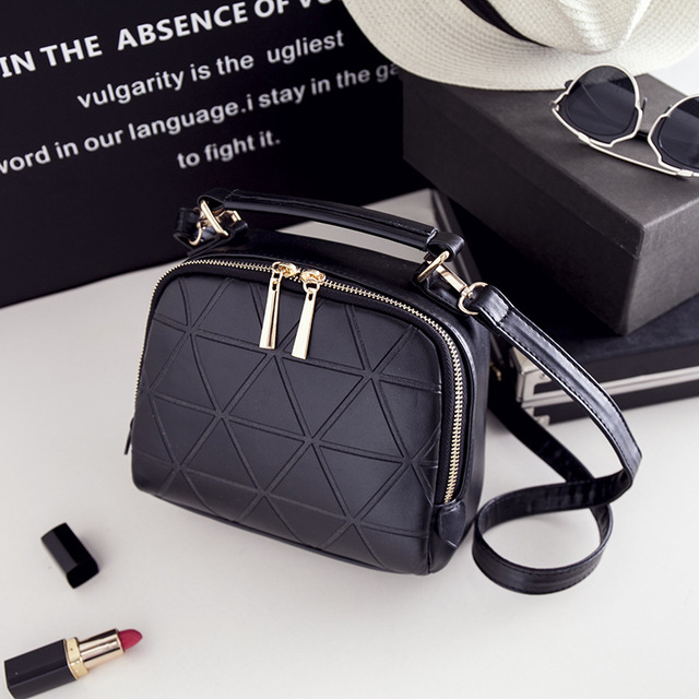 2017 High Quality Chain Shoulder Lady Messenger Bag Candy Color Crossbody Bags New Fashion Women Solid PU Leather Handbag