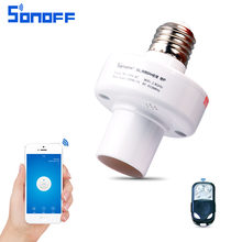 Sonoff Slampher RF 433MHz Wifi Smart Light Holder E27 Universal WiFi Light Lamp Bulbs Holder Supports RF Receiver for Smart Home(China)