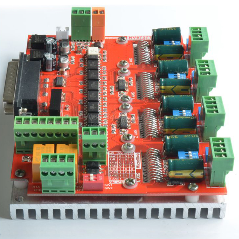 Actuator 4 axis stepper motor driver board LV8727 for cnc milling machine 3040T DJ cnc 5axis a aixs rotary axis t chuck type for cnc router cnc milling machine best quality