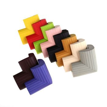 10Pcs Kids Baby Soft Safety Table Corner Edge Guard Protection Cover Children Multicolor U Shape Mini Stripe Corner Random Color 2