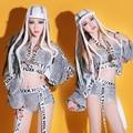 2016 bar ds trajes hiphop lantejoulas dança boate sexy DJ cantora traje desempenho
