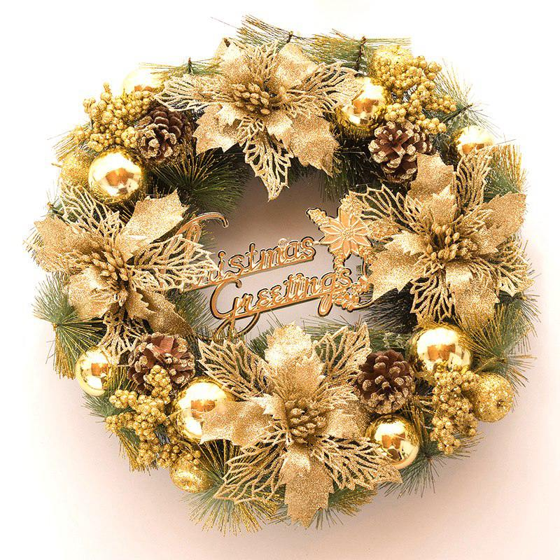 Christmas Wreath Xmas Garland Hanging Advent Calendar New Year Gifts Bag Decors