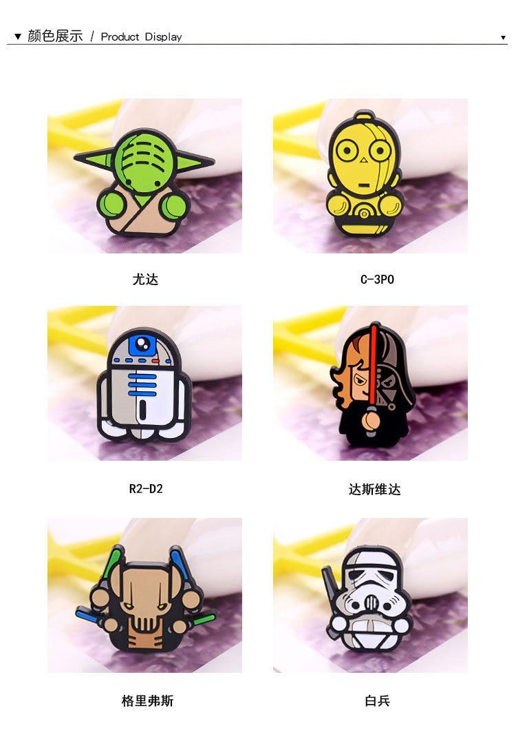 6 Piecesset Cartoon Star Wars Kawaii Darth Vader Master