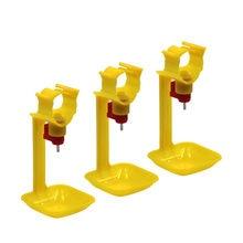 Copos de mamilo de galinha integrados automáticos, copos de pendurar com 25mm, bola de tubos, mamilo, aves, alimentação de água, ferramenta de 10 peças