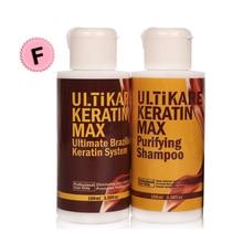 100ml Free Formalin Keratin Hair Treatment Straightening and 100ml Purifying Shampoo Smooth Shiny and Repair Damage Hair цена 2017