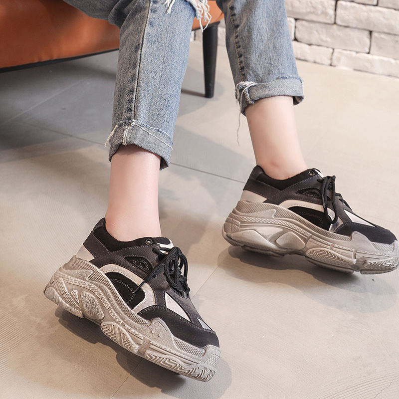 LZJ 2018 Shoes grey Shoe Women Fashion Brand Retro Platform Sneaker Lady Autumn footwear Black Breathable chaussure Soft 35-39LZJ 2018 Shoes grey Shoe Women Fashion Brand Retro Platform Sneaker Lady Autumn footwear Black Breathable chaussure Soft 35-39