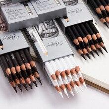 12 шт. Профессиональный эскизный деревянный карандаш мягкие пастельные карандаши угольная ручка для студенческого рисования товары для рукоделия
