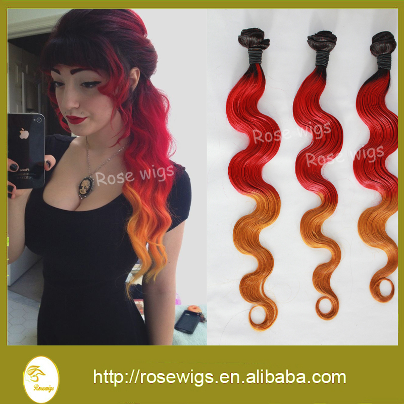 Grade 6a ombre indian vrigin body wave hair weave 3pcs lot ombre grade 6a ombre indian vrigin body wave hair weave 3pcs lot ombre red and yellow hair weft three ombre hair weave in hair weaves from hair extensions wigs pmusecretfo Image collections