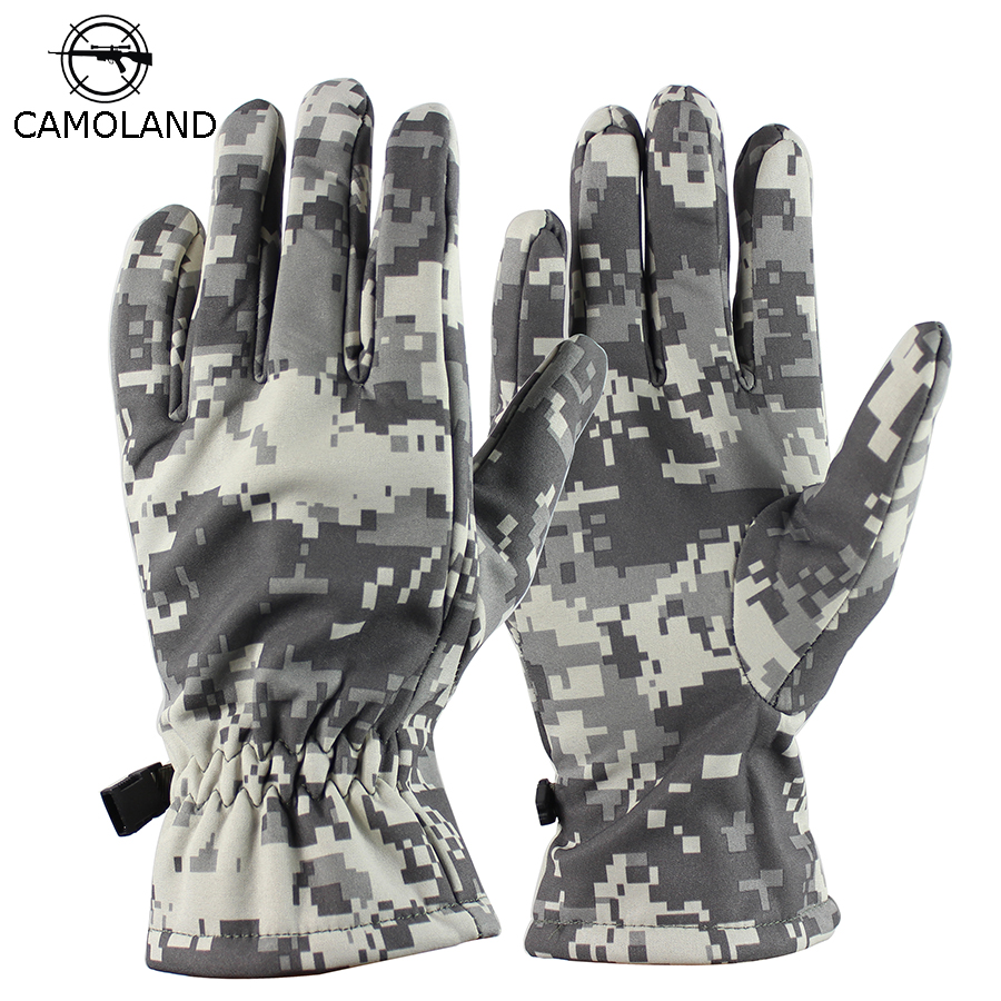 2019 Winter Army Military Tactical Men Gloves Outdoor Sports Full Finger Mittens With Fleece Waterproof Sharkskin Thermal Gloves