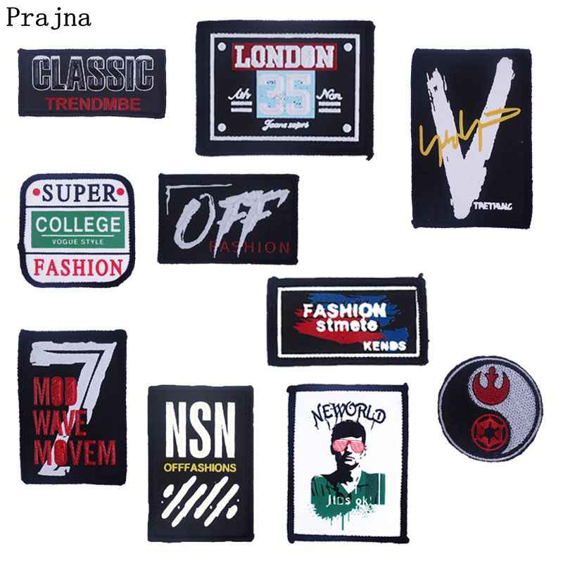 Prajna Street Art Patches Super Fashion Classic Patch For Clothing DIY Embroidery London Stripe On Jeans Jacket Applique For Man
