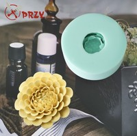 HC0034 Silica gel 3D molds chrysanthemu silicone soap mold daisy candle mold aroma mould handmade soap making resin clay molds