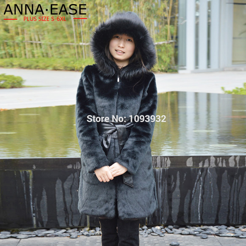 Faux Manteau Femmes Russe De Capuchon Longue Manteaux Plus À 4xl D'hiver Outwear Taille La Avec Ceinture 5xl Parka 3xl Fourrure qwx60Sg