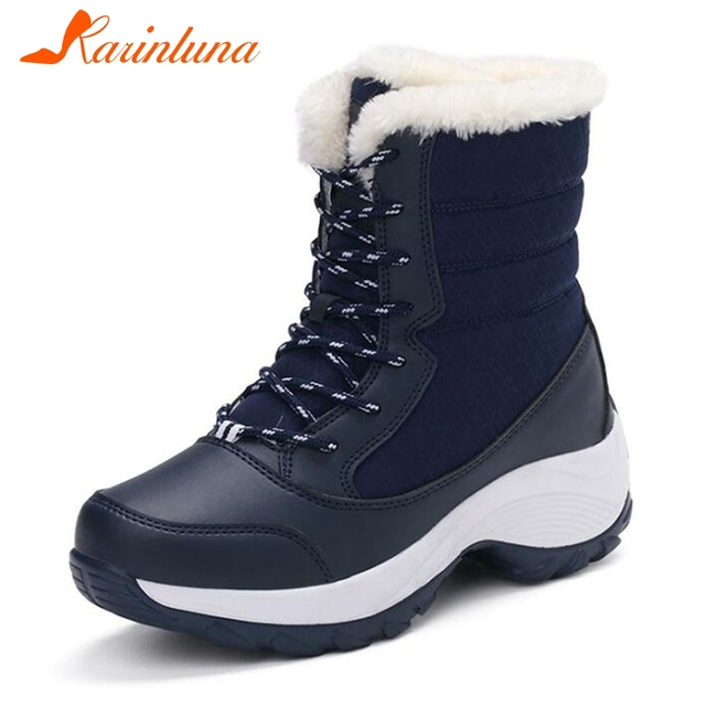 c9458db30ef KARINLUNA NEW Women Boots Non Slip Waterproof Winter Ankle Snow Boots Women  Platform Winter Shoes With Thick Fur Botas Mujer-in Ankle Boots from Shoes  ...
