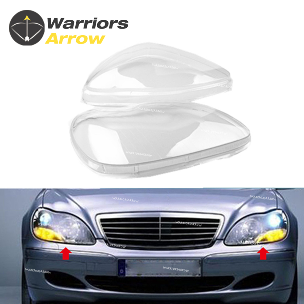 Pair For Mercedes Benz W220 1998 2005 S280 S320 S350 S430 S500 S600 Front Headlight Lamp