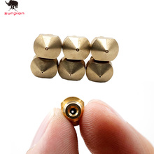 SUNPION 5pcs/lot V5 V6 Nozzle 0.4mm Part Copper 1.75mm Filament M6 Threaded Brass 3D Printers Parts